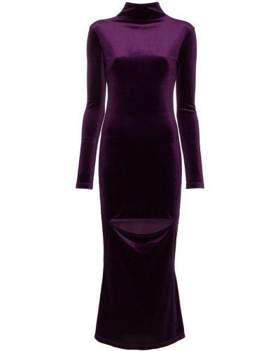 Фиолетовое платье миди Marta Jakubowski