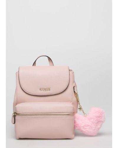 Рюкзак кожаный розовый Guess Jeans