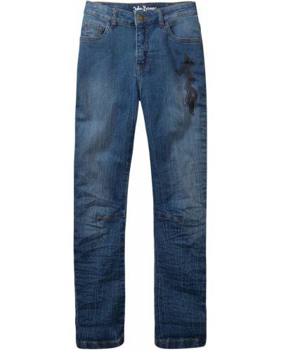 Синие джинсы с поясом Bonprix