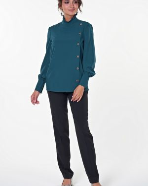 Блузка с воротником-стойкой прямая Valentina