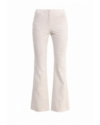 Бежевые брюки расклешенные Bcbgmaxazria