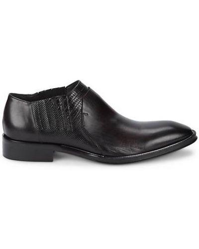 Czarne ankle boots skorzane Jo Ghost