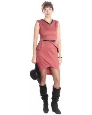 Деловое платье с баской повседневное Lautus