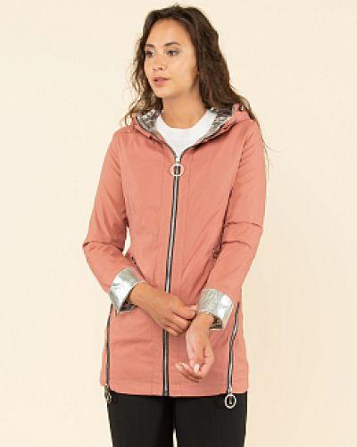 Розовая текстильная куртка каляев