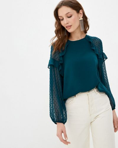 Зеленая блузка с длинными рукавами Wallis