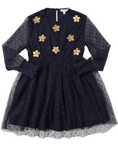 Платье с поясом на пуговицах с вырезом Little Marc Jacobs