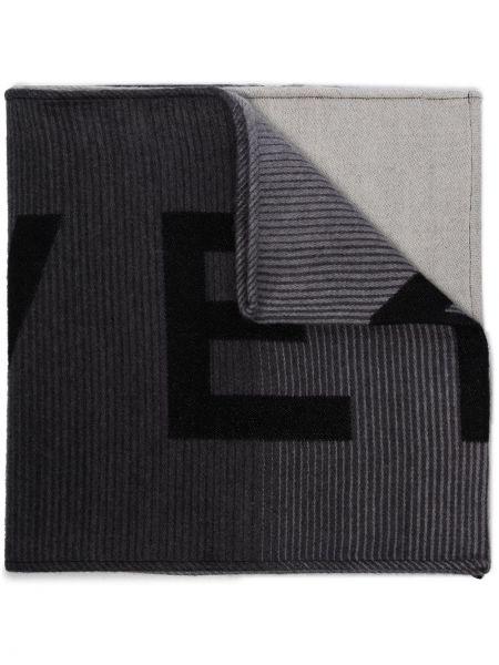 Jedwab czarny szalik Givenchy