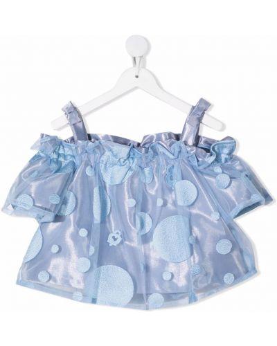 Bluzka z wiskozy - niebieska Simonetta