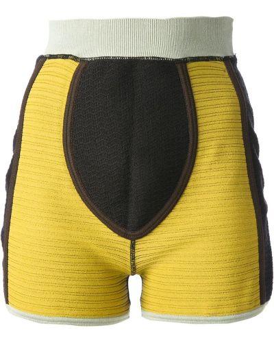 Однобортные коричневые шорты Jean Paul Gaultier Pre-owned