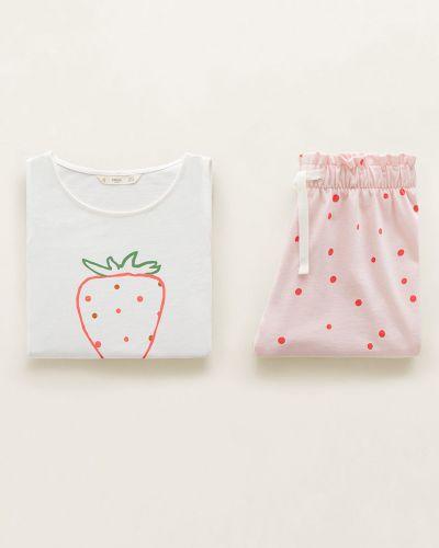 Пижама трикотажная белая Mango Kids
