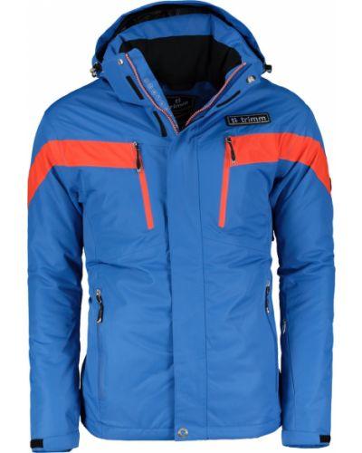 Niebieska ciepła kurtka materiałowa Trimm