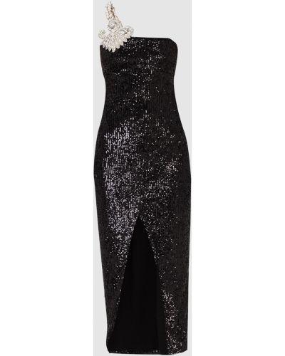 Вечернее платье миди - черное Balmain