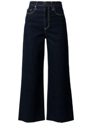 Джинсовые синие укороченные джинсы Nobody Denim