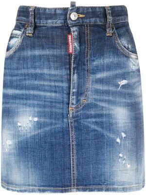 Синяя с завышенной талией плиссированная юбка мини Dsquared2