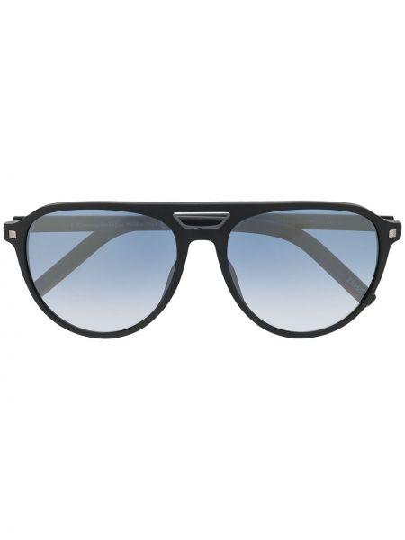 Прямые черные солнцезащитные очки круглые Ermenegildo Zegna