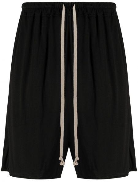 Черные шорты эластичные Rick Owens Lilies