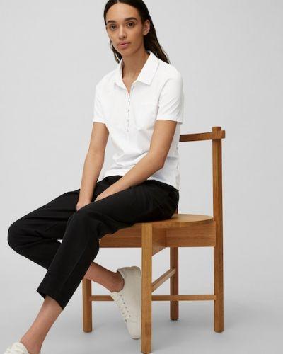 Biała koszulka bawełniana Marc O Polo