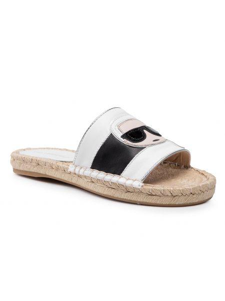 Sandały espadryle - białe Karl Lagerfeld