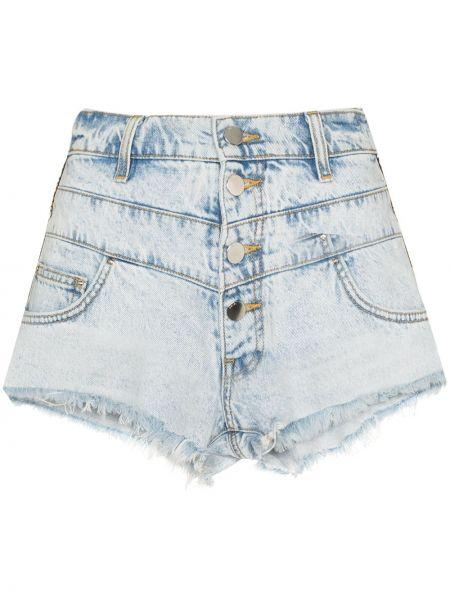 Синие хлопковые джинсовые шорты с вышивкой Amiri