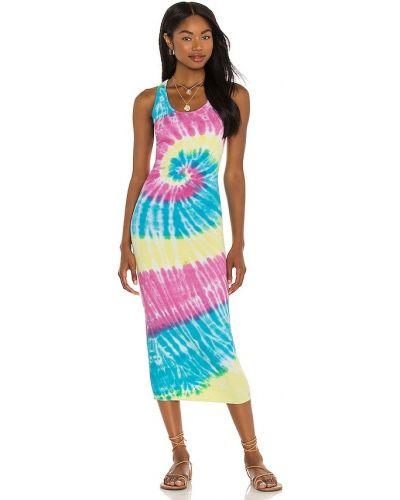 Трикотажное платье - синее Nsf