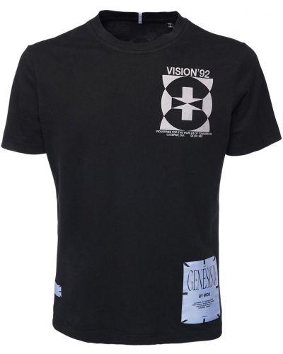 T-shirt bawełniana - czarna Mcq Alexander Mcqueen