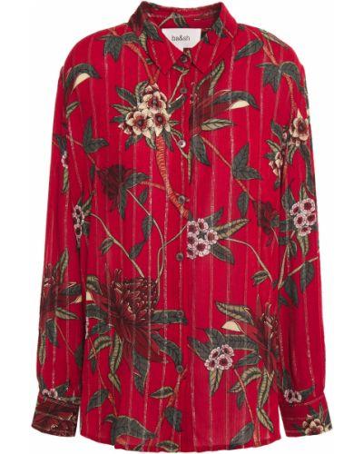 Красная рубашка с манжетами на пуговицах Ba&sh