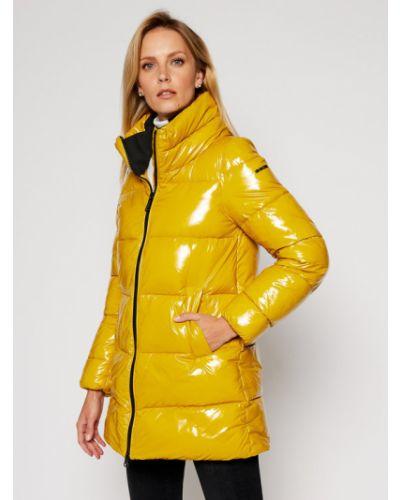 Żółta kurtka puchowa Geox