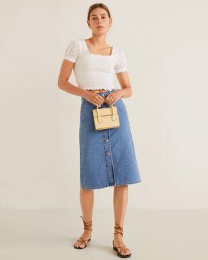 Юбка миди джинсовая с карманами Mango