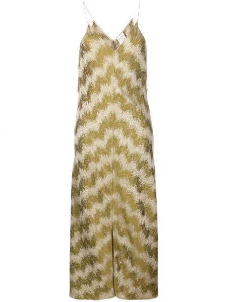 Тонкое платье на бретелях с V-образным вырезом на молнии Forte Forte