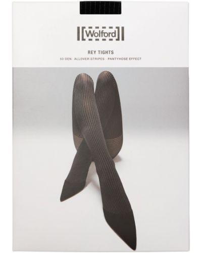 Черные колготки в полоску Wolford