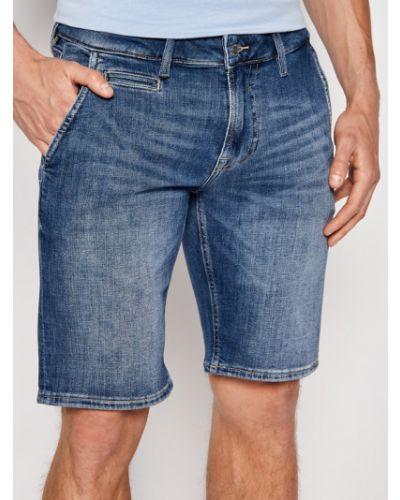Szorty jeansowe - granatowe Guess