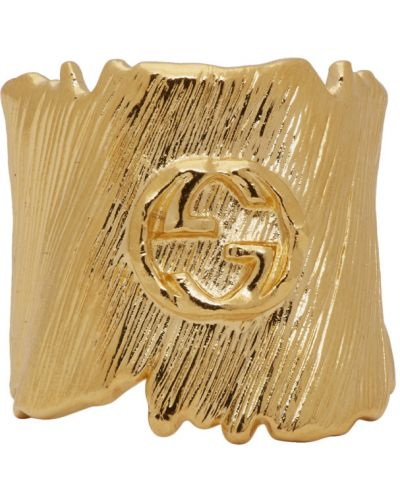 Pierścień złoto metal Gucci