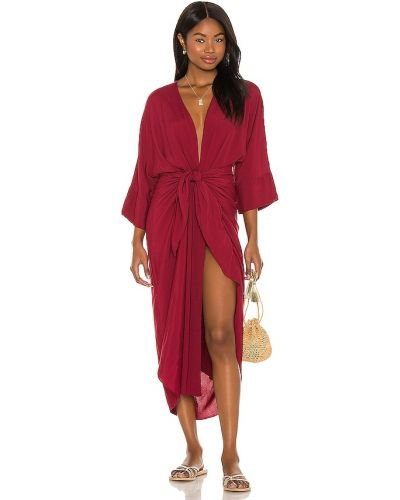 Костюмное красное платье из крепа Haight