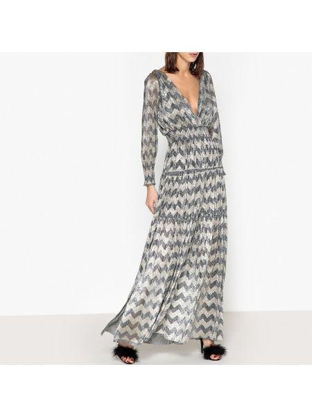 Платье с поясом с разрезами по бокам мерцающее Ba&sh