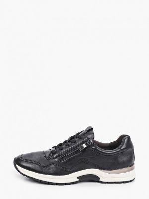 Черные кроссовки осенние Caprice