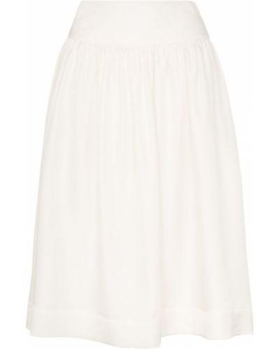 Приталенная расклешенная юбка миди в рубчик Deitas