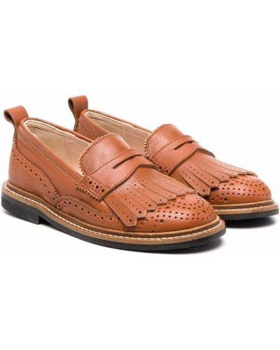 Loafers - brązowe Chloé Kids