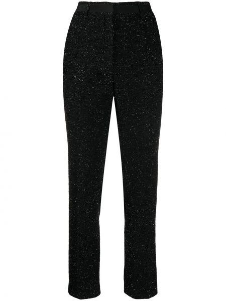 Черные акриловые брюки на молнии Mulberry