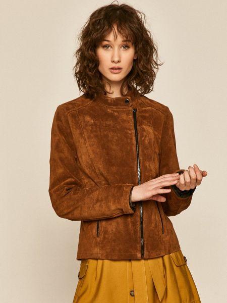 С рукавами коричневая кожаная куртка Medicine