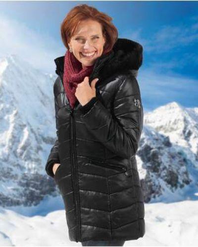 Черная стеганая куртка из искусственного меха Atlas For Men
