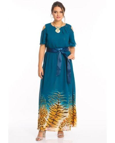 Платье макси с поясом со складками Merlis