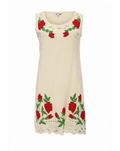 Повседневное бежевое платье Indiano Natural