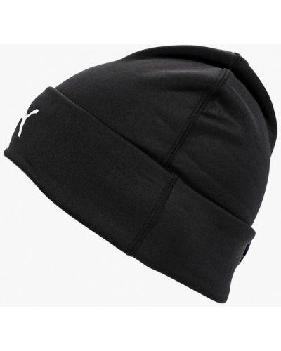 Черная шапка осенняя Puma