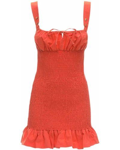 Czerwona sukienka mini bez rękawów bawełniana Ciao Lucia