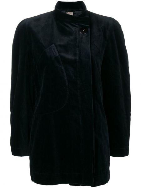 Черный пиджак винтажный свободного кроя Krizia Pre-owned