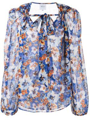 Блузка с принтом - синяя Misa Los Angeles