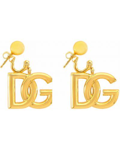 Kolczyki sztyfty - żółte Dolce And Gabbana