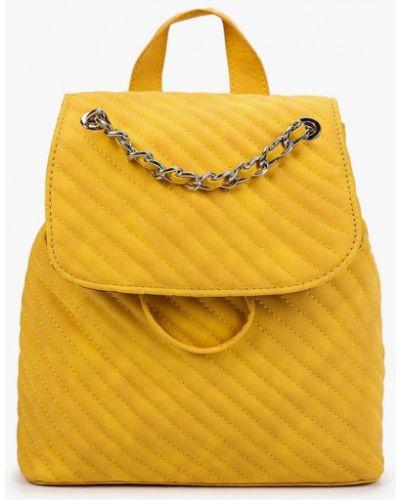 Кожаный рюкзак - желтый Skinnydip