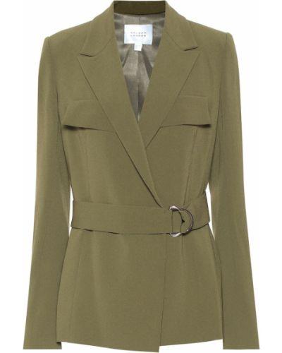 Классический оливковый сатиновый классический пиджак Galvan