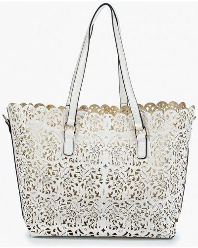 Белая кожаный сумка Aldo